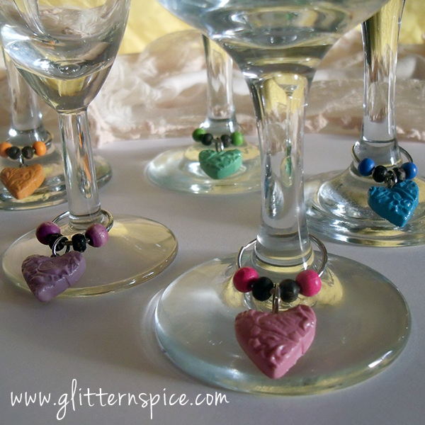 How To Make Heart Wine Glass Charms
