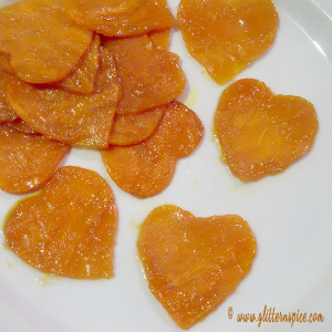 A delicious candied sweet heart yam recipe for your sweeties!