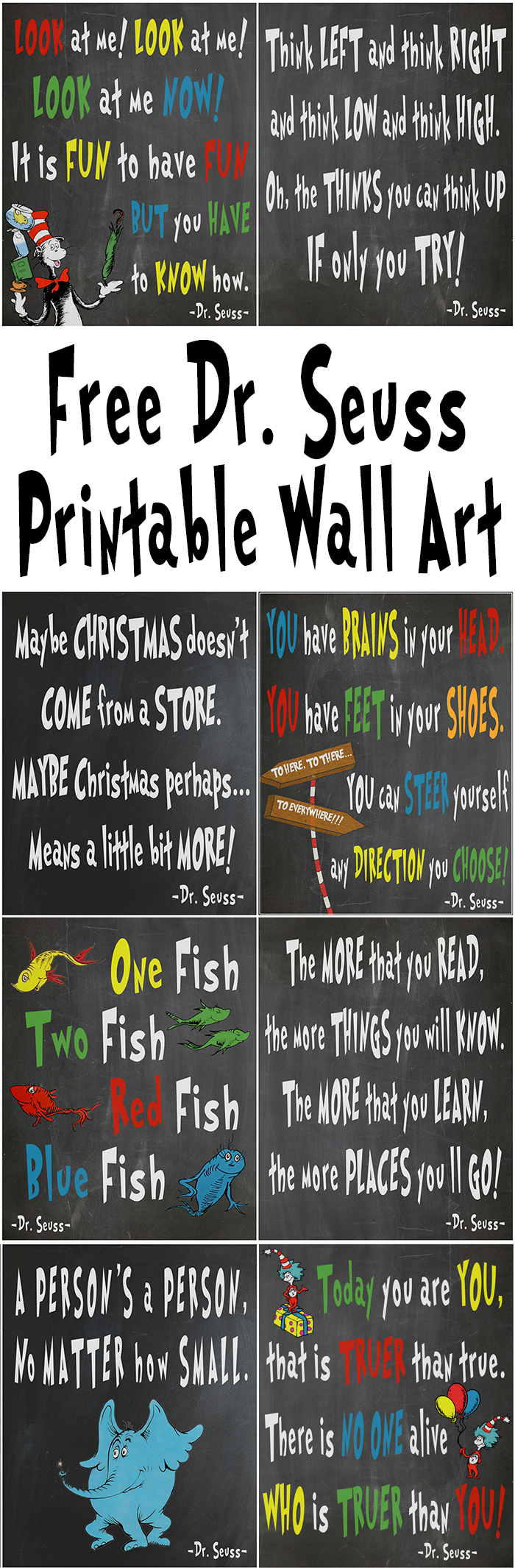 Free Dr Seuss Printables For Decorating A Classroom Or