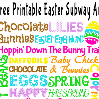 Free Printable Easter Subway Art