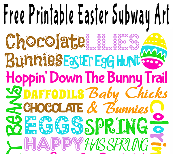 picture relating to Subway Art Printable identify Free of charge Printable Easter Subway Artwork Glitter N Spice