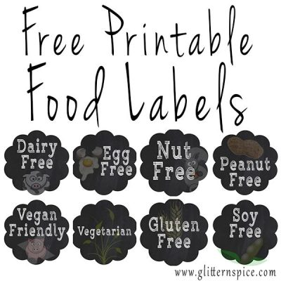 Free Printable Labels For Identifying Common Food Allergies And Dietary Restrictions