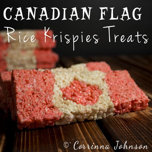 Canadian Flag Rice Krispie Treats