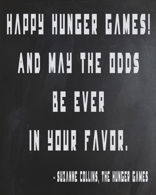 Hunger Games Free Chalkboard - Printable