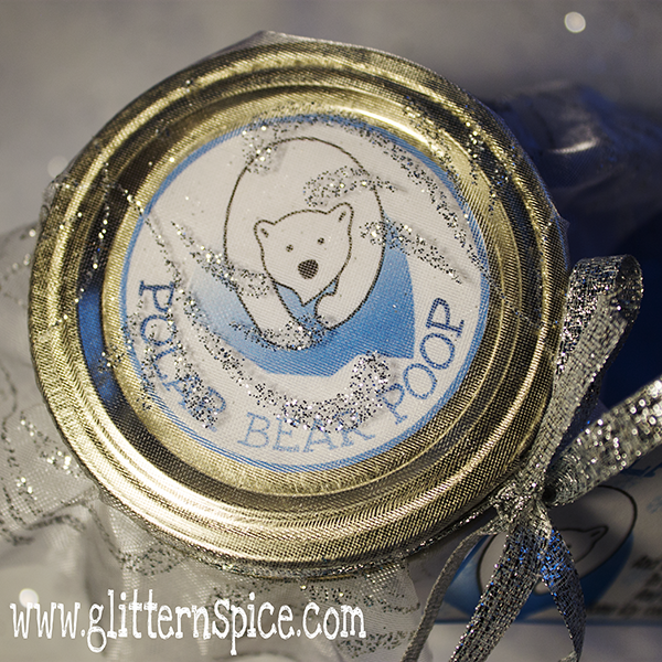 Polar Bear Poop In A Jar Gift Idea With Free Printable