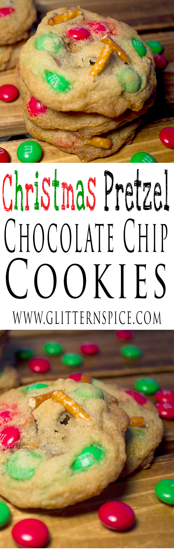 Christmas Pretzel Chocolate Chip Cookies