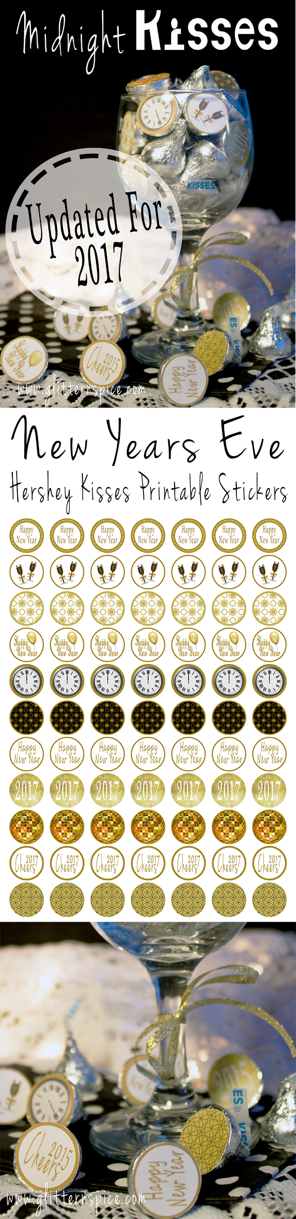 2017 New Years Eve Hershey Kisses Printable Labels ...
