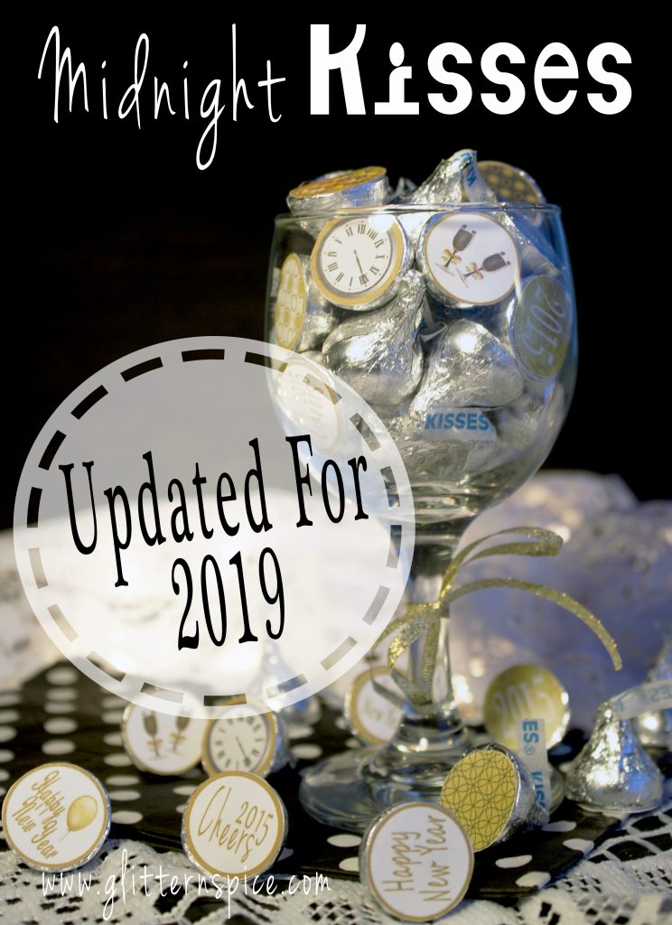 New Years Eve Hershey Midnight Kisses And Printable Stickers