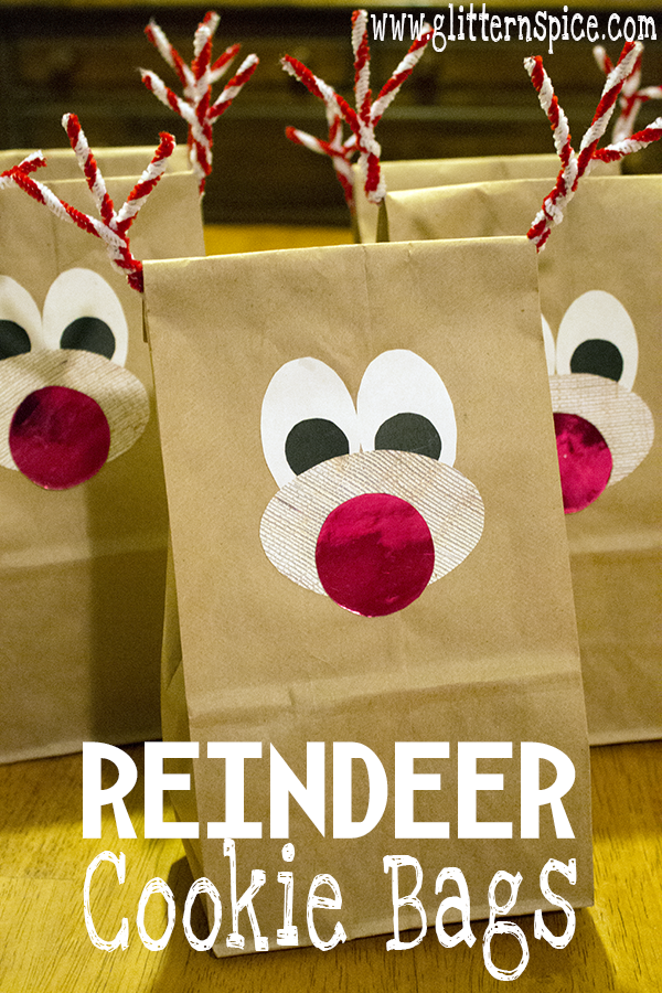 Reindeer Cookie Bags