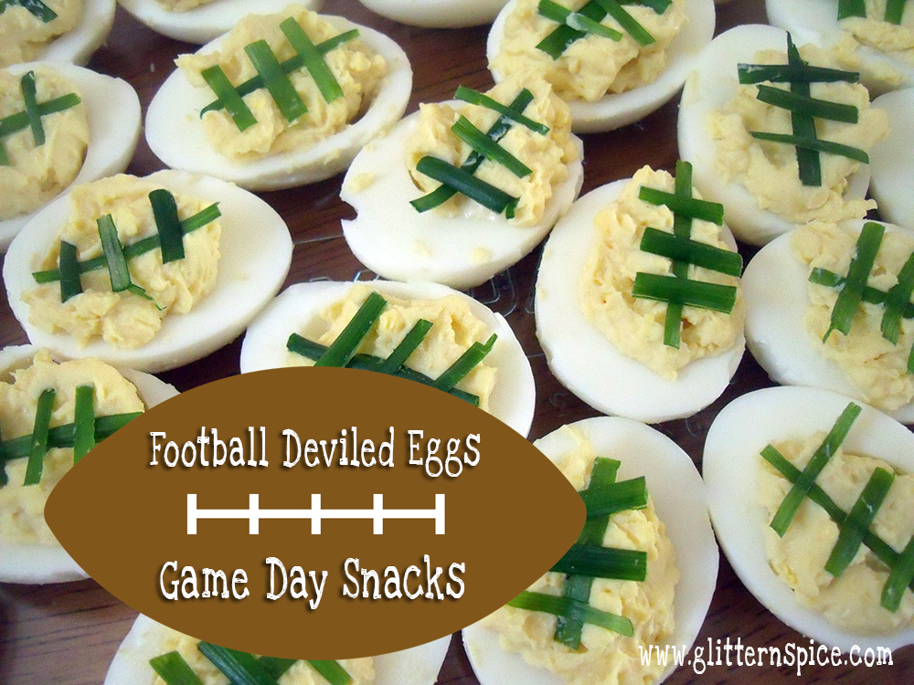Football Deviled Eggs Recipe - Game Day Snacks