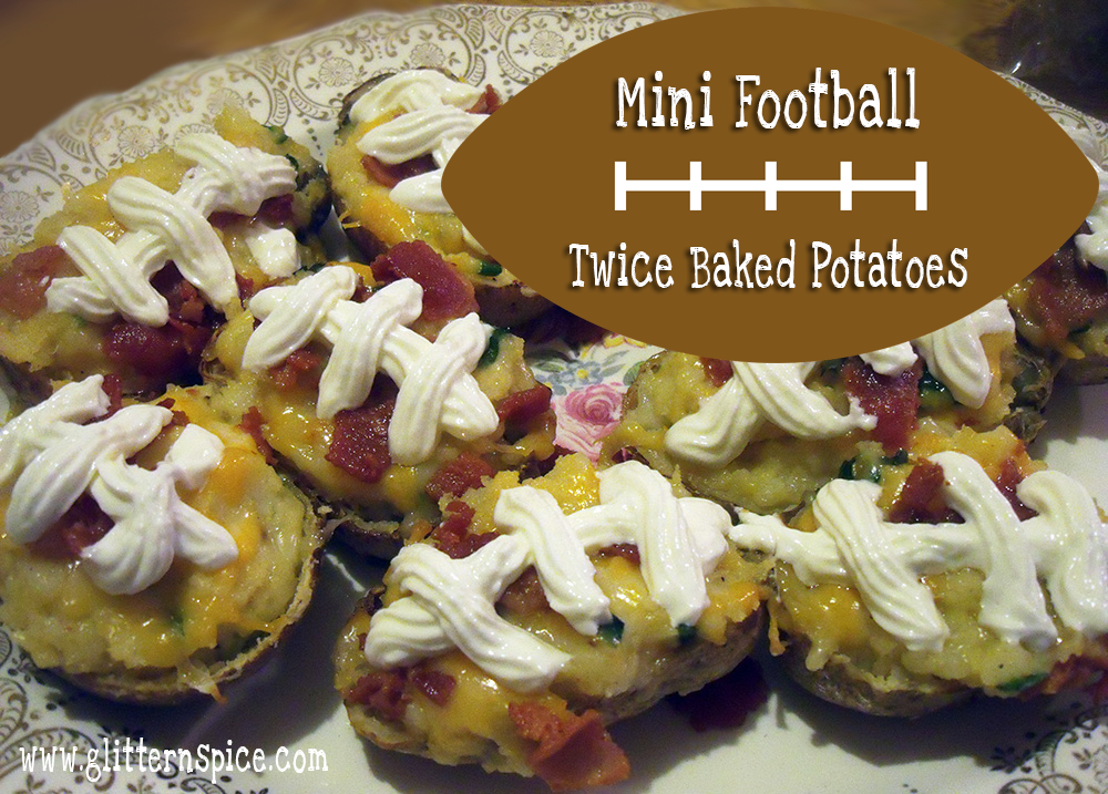 Mini Football Twice Baked Potatoes