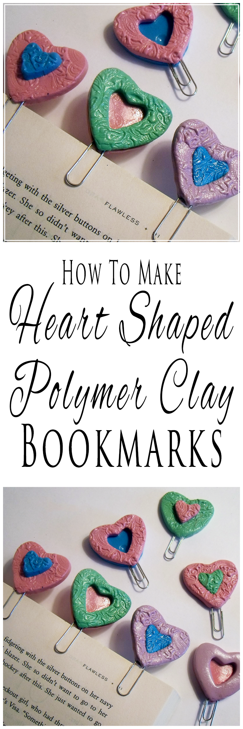 How To Make Polymer Clay Paperclip Bookmarks