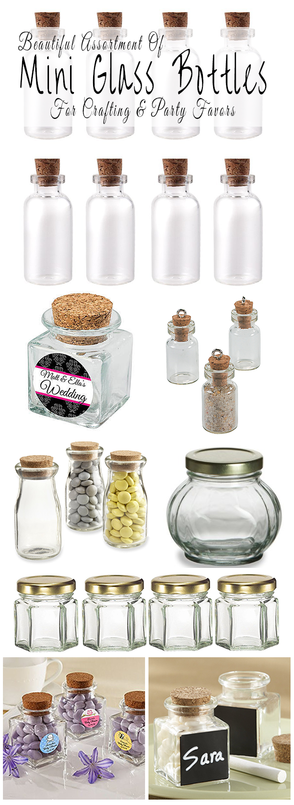 Where To Buy Mini Glass Bottles For Crafting And Party Favors ...