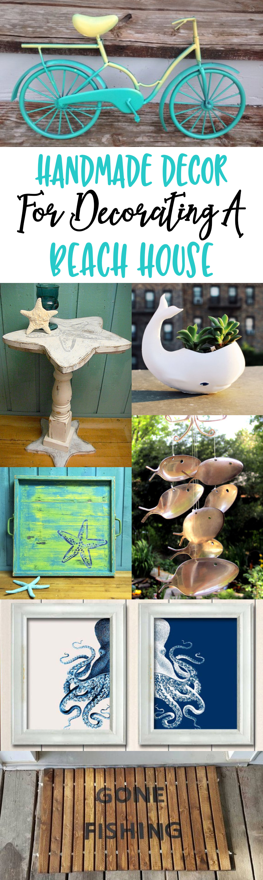 Handmade Decor Ideas For Decorating A Beach House #beach #summer #decor #decorating #homedecor