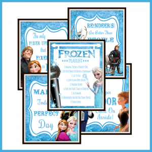Frozen Inspired Karaoke Party Printables
