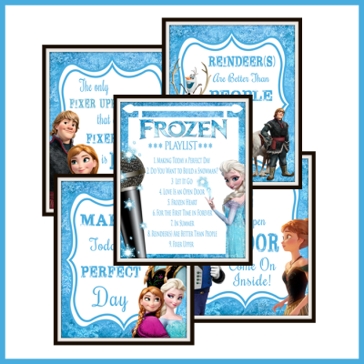 Free Frozen Inspired Karaoke Party Printables