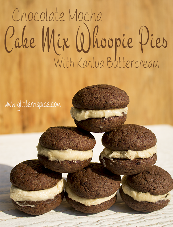 Mocha Cake Mix Whoopie Pies With Kahlua Ercream Frosting