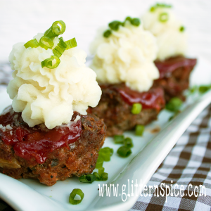 Chipotle Mini Meatloaf Muffins And Mashed Potatoes