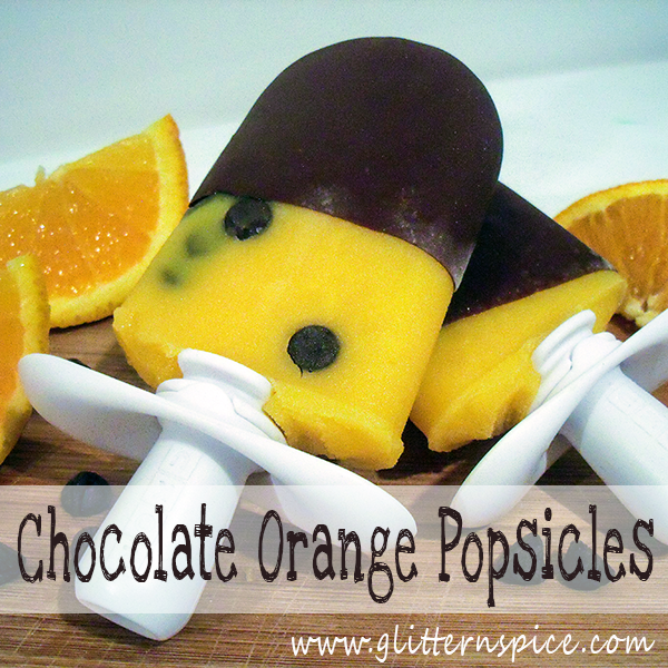 Chocolate Dipped Orange Popsicles