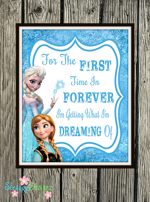 "Frozen Inspired Karaoke Party Printables - ""For The First Time In Forever"" 8"" x 10"" Poster"