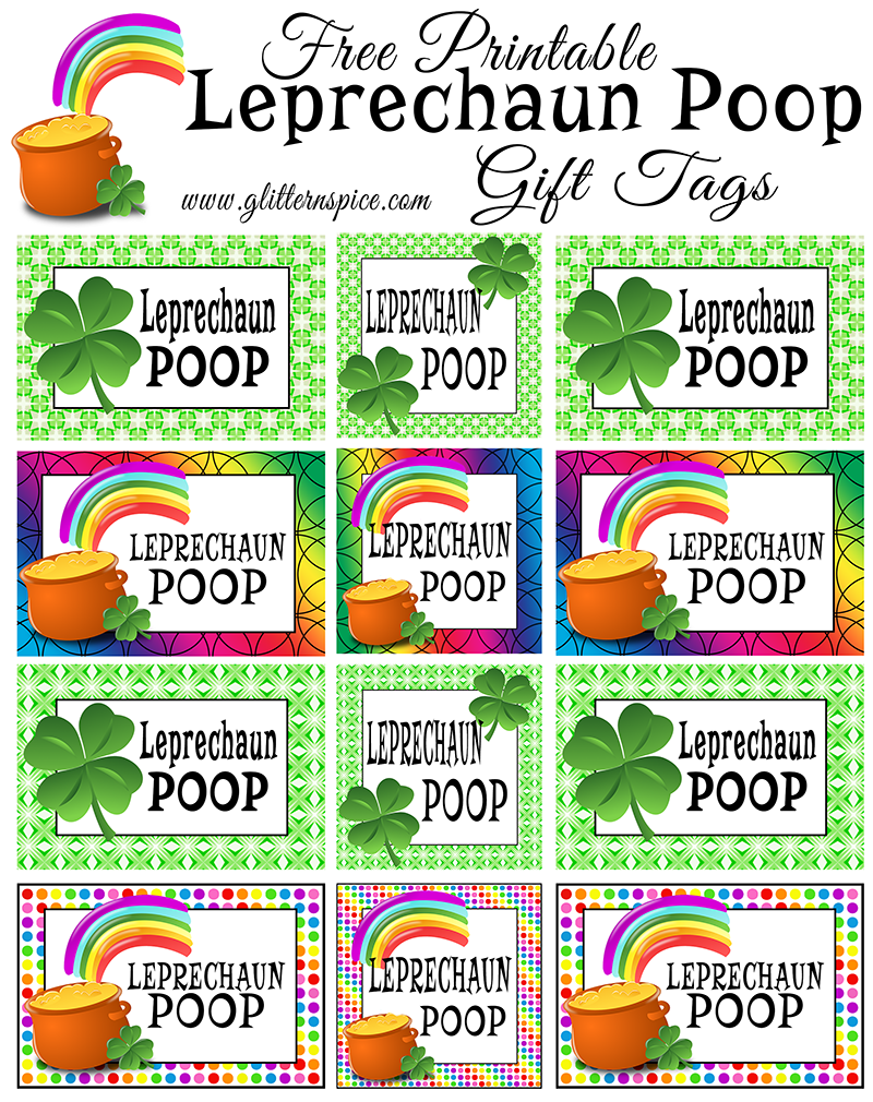 Free Printable Leprechaun Poop Gift Tags