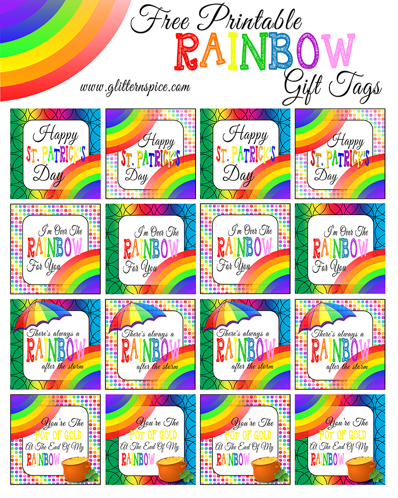 graphic relating to Free Printable Rainbow called Rainbow Within A Jar No cost Rainbow Printables Glitter N Spice