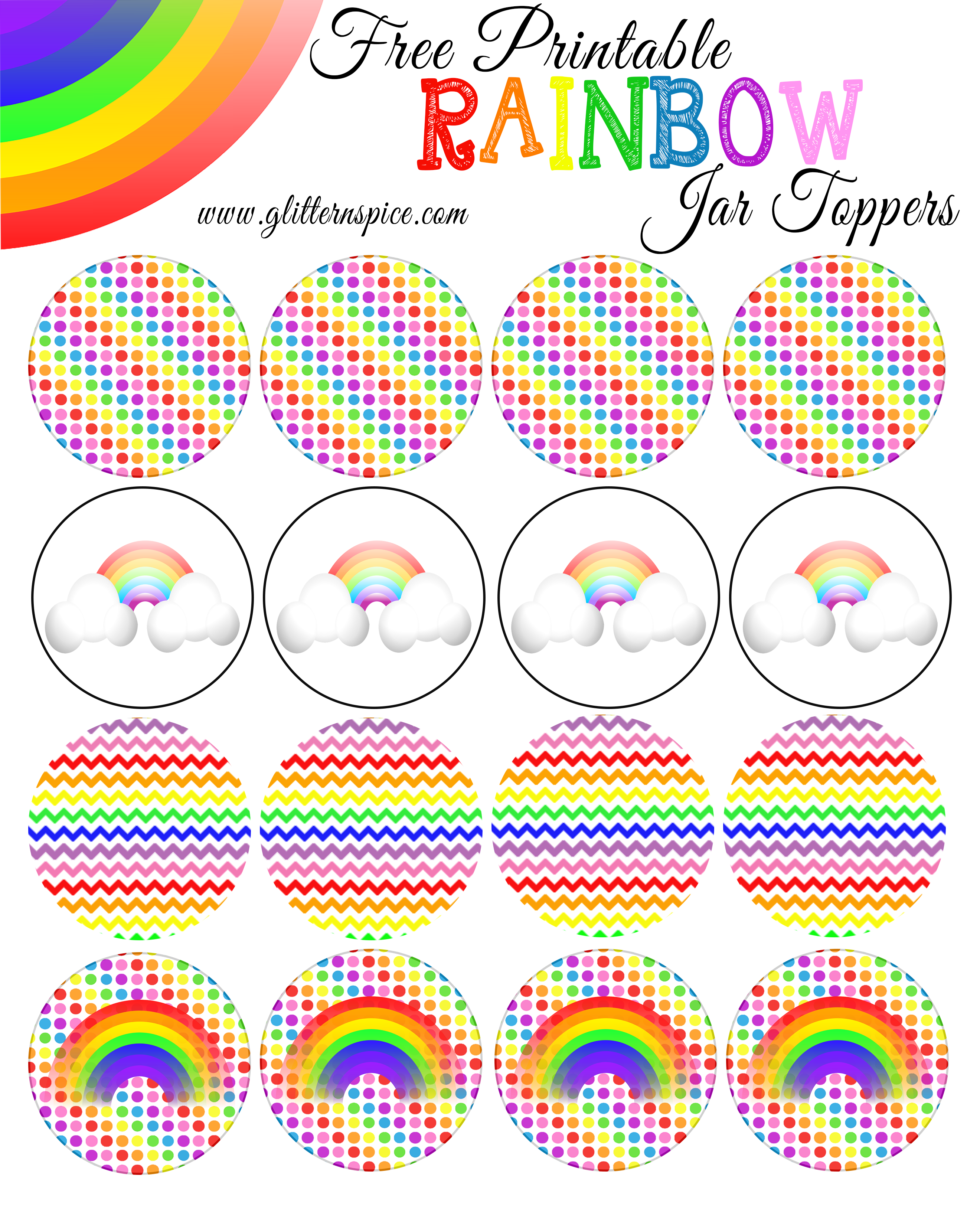 Rainbow In A Jar | Free Rainbow Printables | Glitter 'N Spice