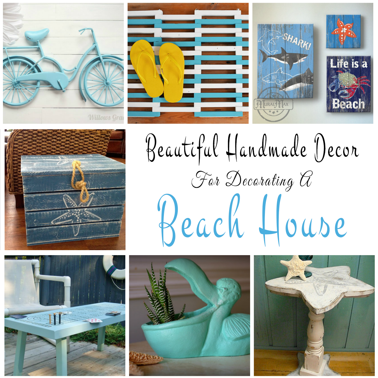 Handmade decor ideas for decorating a beach house for Beach house decorating ideas photos