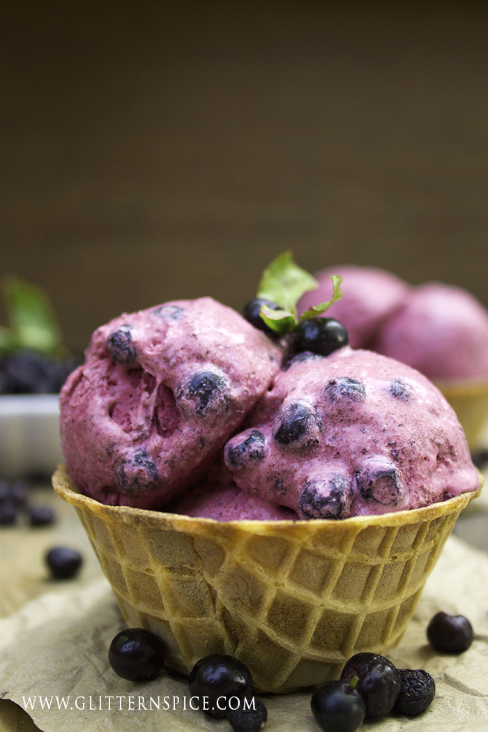 Homemade Wild Huckleberry Ice Cream