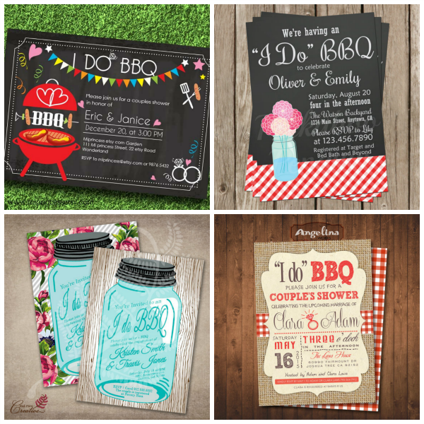 I Do BBQ Invitations For Weddings