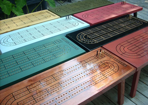 Custom Colors Cribbage Tables