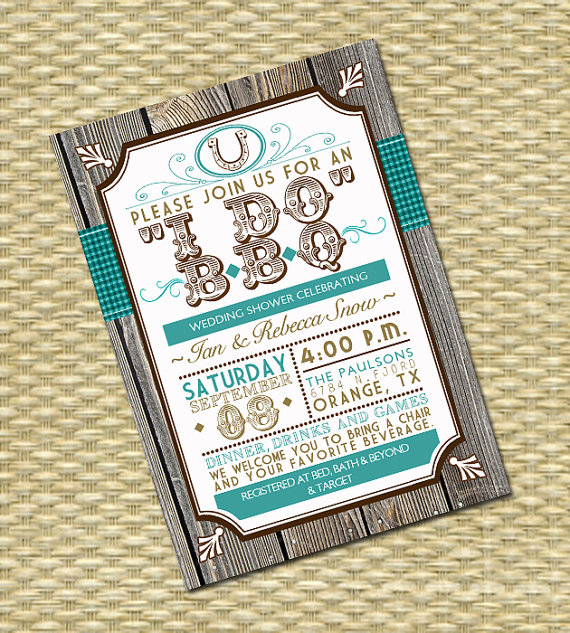 i do bbq invitations for weddings | glitter 'n spice, Wedding invitations