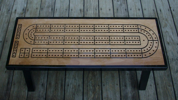 Continuous Play Cribbage Table - Handmade Cribbage Table A Unique Gift Idea For Cribbage Players