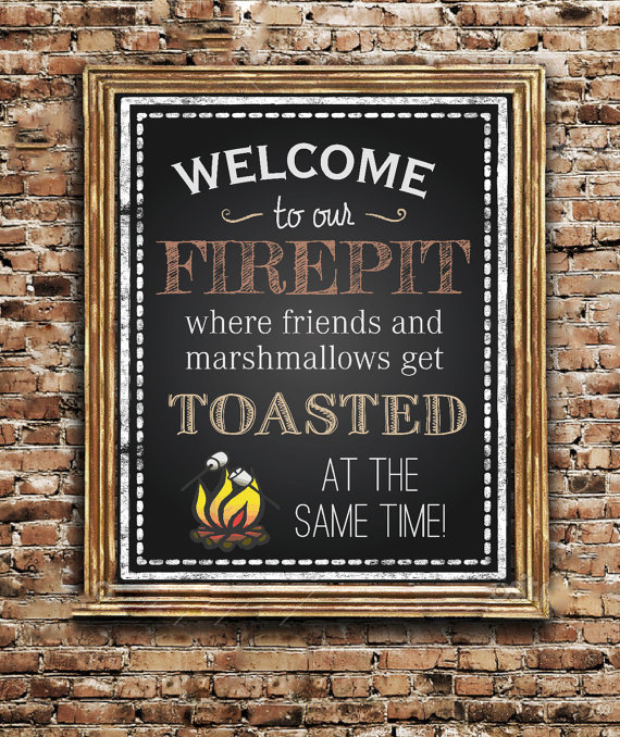 Printable Welcome To My Firepit Sign