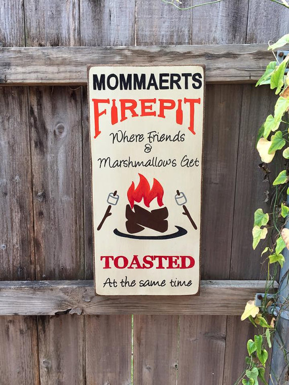 Personalised Welcome To Our Fire Pit Sign