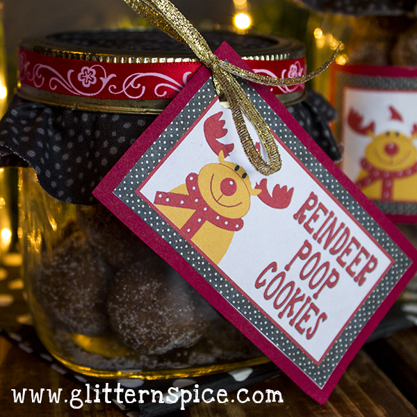 Reindeer Poop Cookies In A Jar Gift Idea
