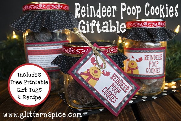Reindeer Poop Cookies Gift In A Jar