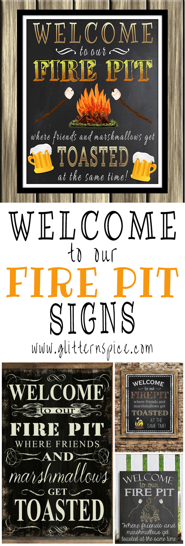 Welcome To Our Fire Pit Signs