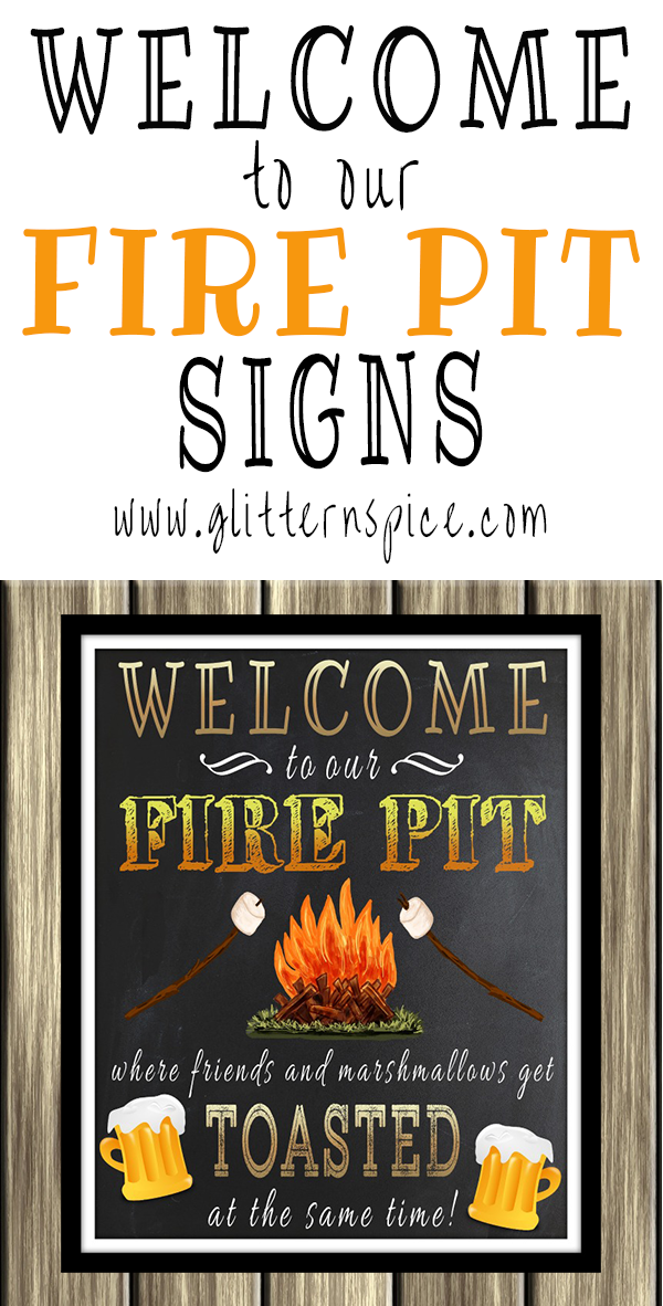 Welcome To Our Fire Pit Signs - Decorate Outdoor Spaces With A Welcome To Our Fire Pit Sign