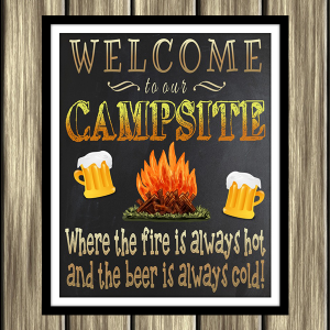 Welcome To Our Campsite Printable Sign