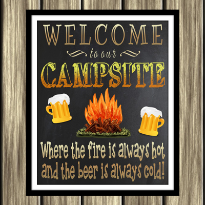 Free Printable Welcome To Our Campsite Sign Plus 4 More Outdoorsy Freebies
