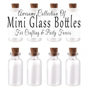 Awesome Collection Of Mini Glass Bottles For Crafting And Party Favors