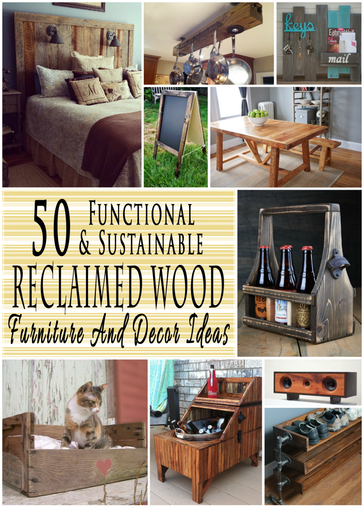 50 reclaimed wood furniture and decor ideas o