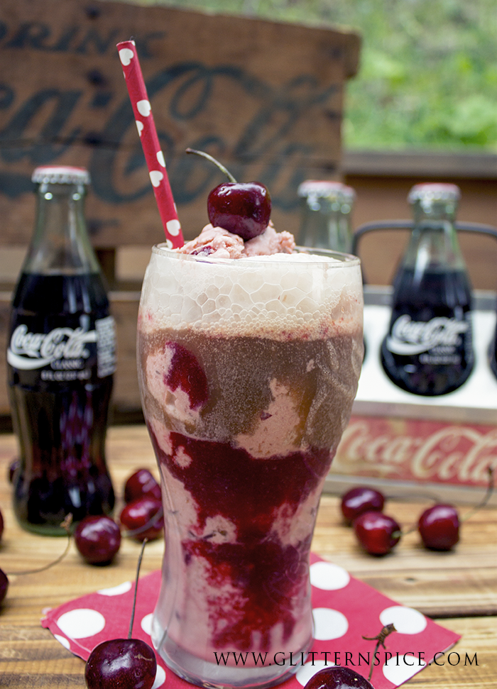 Cherry Coke Ice Cream Float Recipe