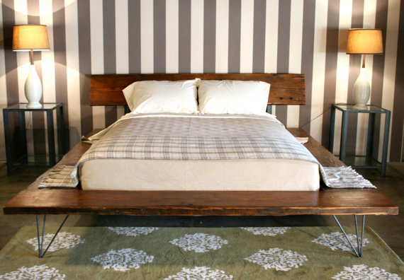 Reclaimed Wood Platform Bed Frame
