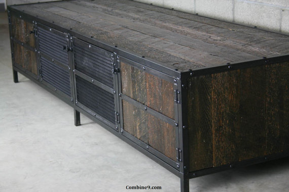Urban Vintage Industrial Media Console