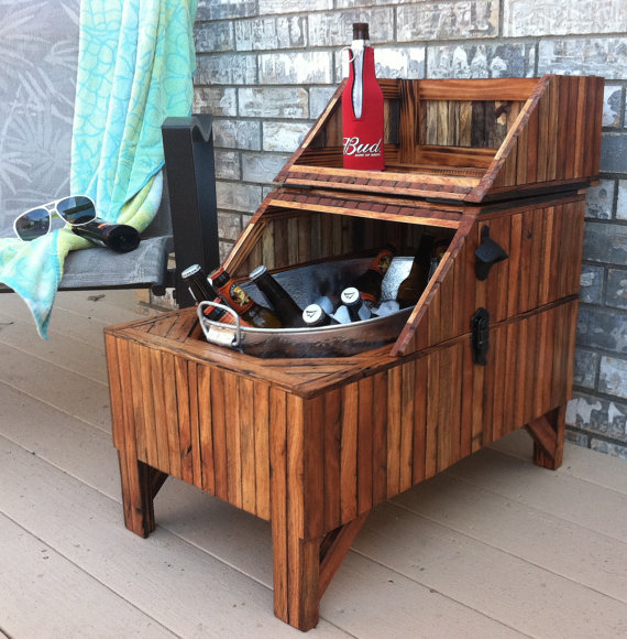 Reclaimed Oak Barn Wood Beer Cooler