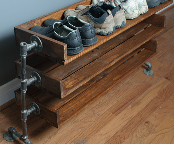 Reclaimed Wood Shoe Rack available via ReformedWood