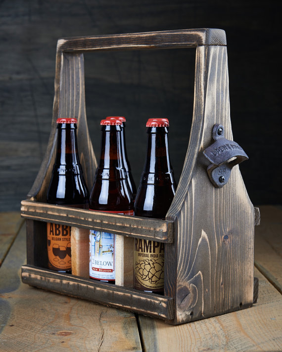Reclaimed Wood Beer Tote