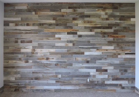 Reclaimed Wood DIY Wall Paneling